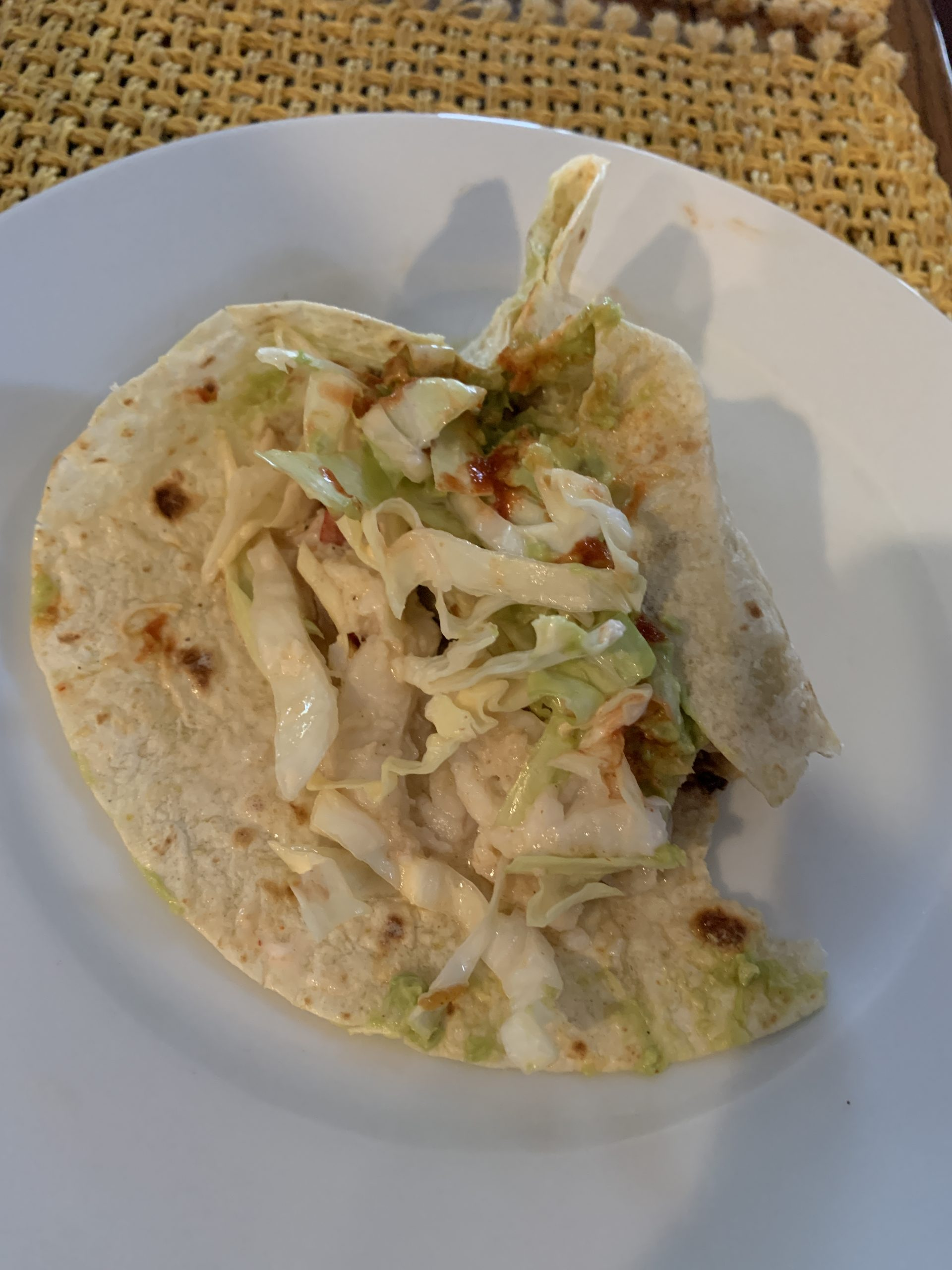 Day 12. Fish Burritos with Cabbage Slaw