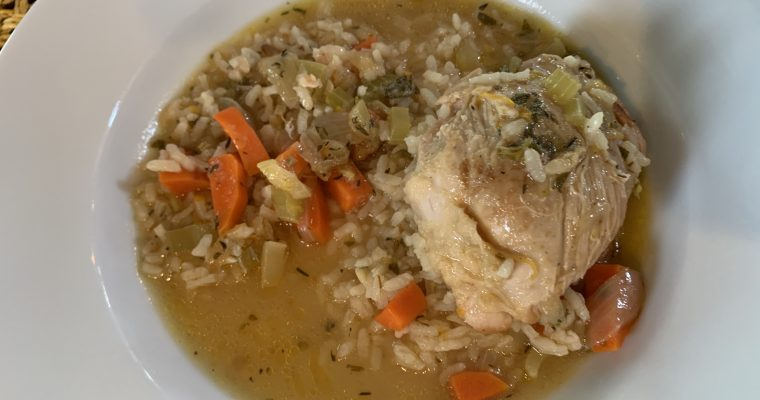 Day 13. One Pot Lemon Chicken with Carrots and Rice