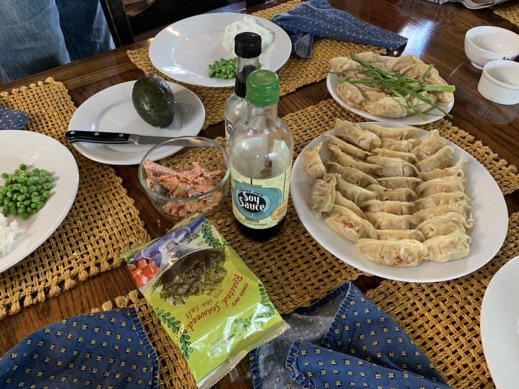 Gyoza and Rice Dinner