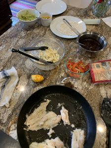 Fish Burrito Dinner